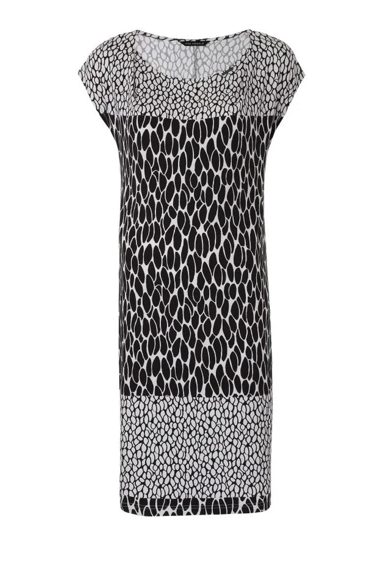 Dzianinowa sukienka Vito Vergelis w czarno-białe wzory