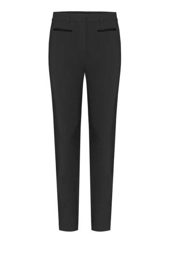 czarne elastyczne spodnie damskie z elastanem i aksamitkami polskiej marki Vito Vergelis