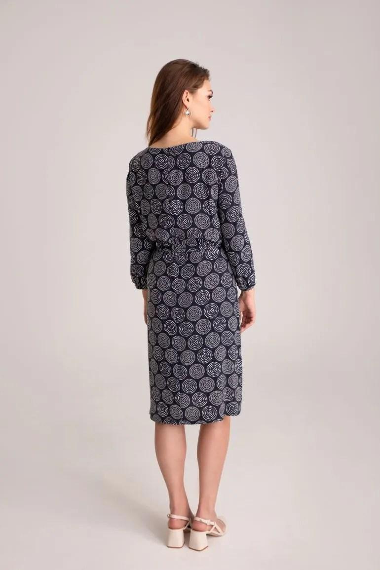 grafitowa sukienka z cupro z wiskozą marki Vito Vergelis