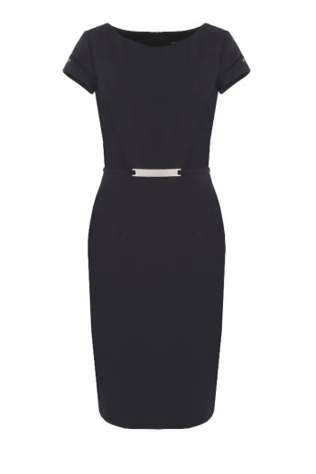 Klasyczna granatowa sukienka biznesowa Vito Vergelis 6063