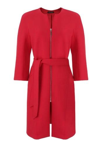 Czerwony płaszcz na suwak. Płaszcz wiosenny Vito Vergelis
