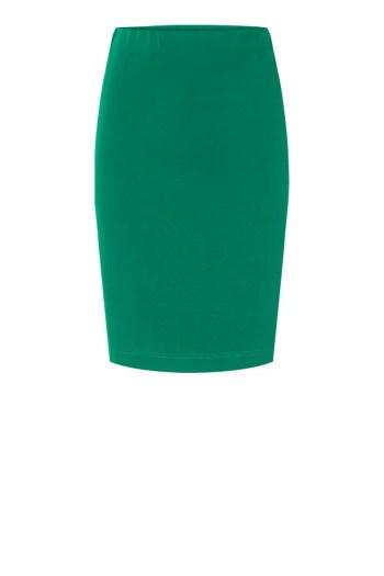 Dzianinowa spódnica ołówkowa w kolorze zielonym marki Vito Vergelis