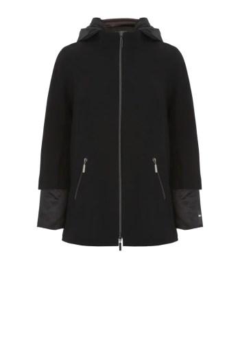 czarna kurtka podwójna marki Vito Vergelis