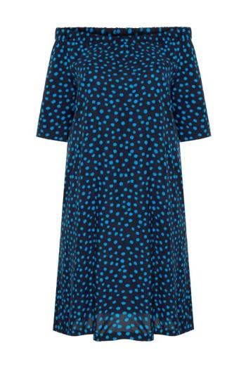 Sukienka hiszpanka z wiskozy w kropki polska marka Vito Vergelis
