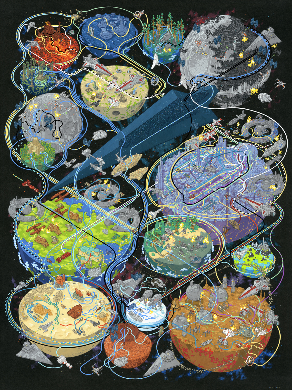Star Wars, por Andrew DeGraff