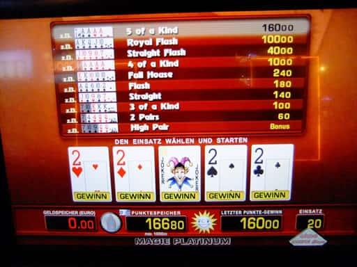 オンラインカジノのビデオポーカーで遊ぼう