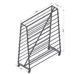 Стенд для клеенки столовой на 22 места (Пирамида)