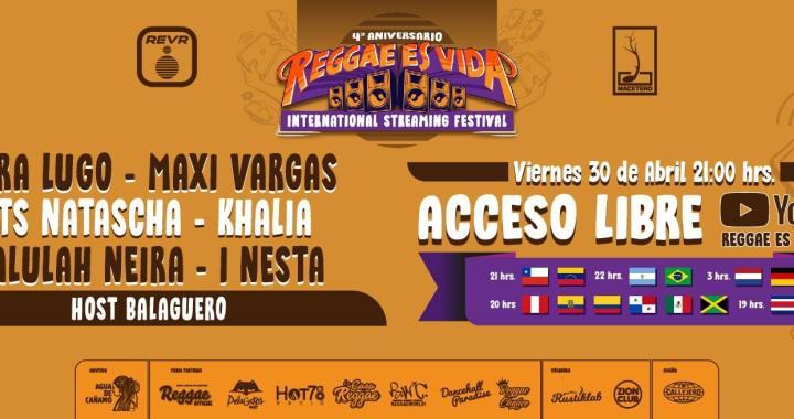 """Este viernes no te pierdas el Festival Internacional """"Reggae Es Vida"""""""
