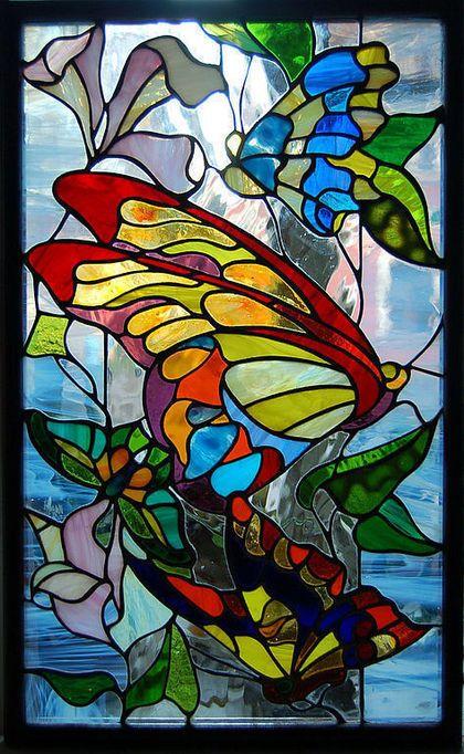 βιτρο πεταλουδες