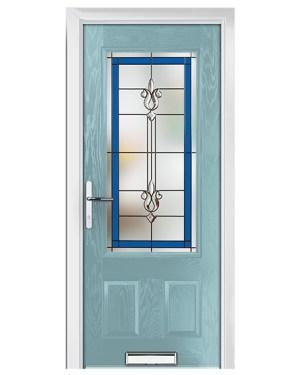 ξύλινη πόρτα τζάμι βιτρο