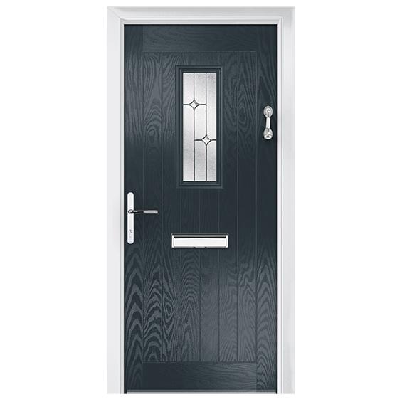 ξύλινη πόρτα σε κρύσταλλο