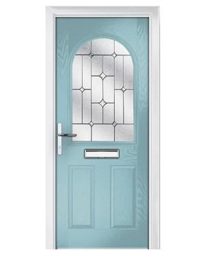 πόρτα αλουμινίου με τζάμιο