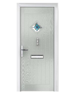 πόρτα ξύλινη γυαλί