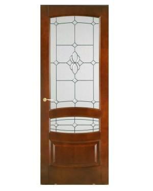 ξύλινη πόρτα εισόδου καρυδιά