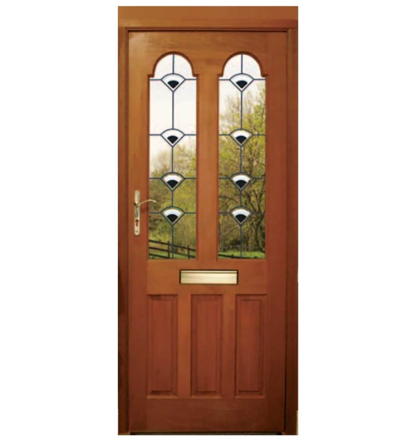 πορτα εισοδου ξυλινη με τζαμι