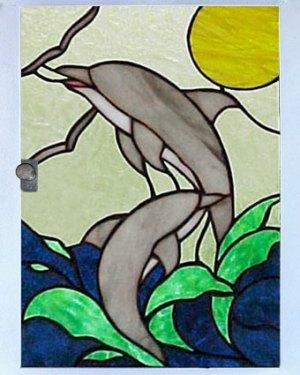 δελφινια πορτάκι πινακα
