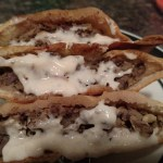 Moroccan Spiced Venison Gyros with Spicy Tzatziki