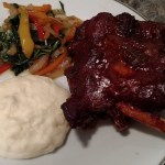 Oven Baked Spicy Pork Ribs with Bok Choy Salad