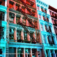 New York City Photos | Colorful Street Photo | Soho Building Street Photo 4x4 Color