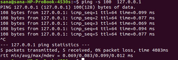 Change ping packet size