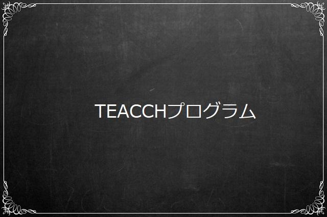 TEACCHプログラム