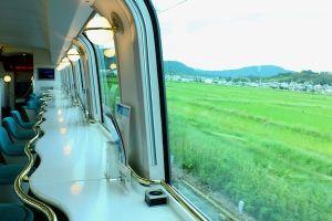 Kansai Kintetsu Limited Express Shimakaze 2nd floor cafe space