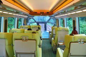 View from the top vehicle of Kansai Kintetsu Limited Express Shimakaze