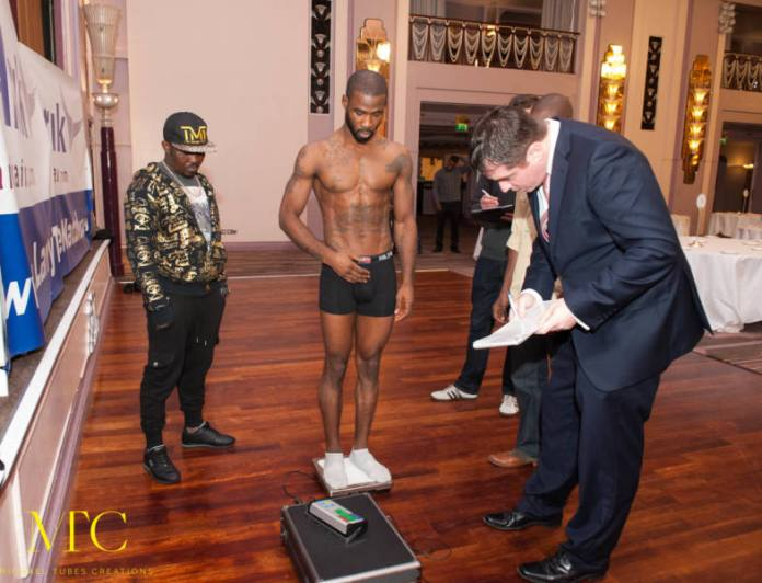 Larry Ekundayo vs Lamptey weigh in-2