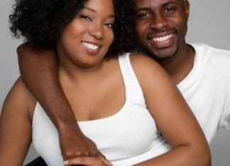 Black happy couple