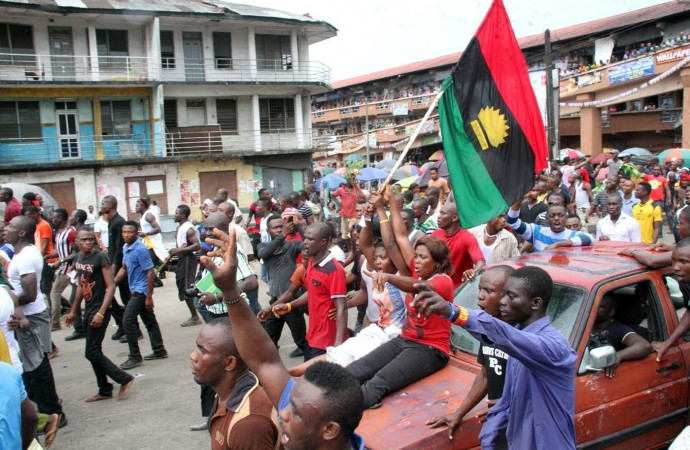 politics in igboland pro-biafra-protesters