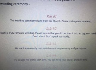 Wedding Gues Rules - Twitter