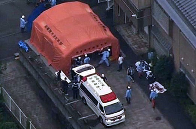 ©Daily Mail|Japan Stabbings - Police at the scene