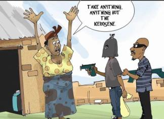 Kerosene subsidy cartoon - feature