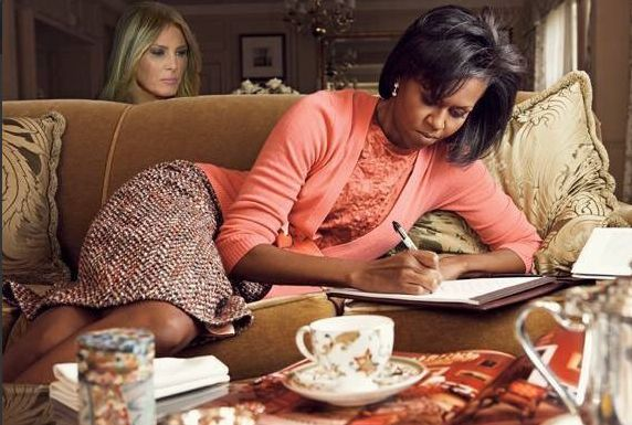 Melania-Trump-Plagiarism-Michelle-Obama Oh, the shade! Plagiarism queen Melania Trump gets dragged for filth!