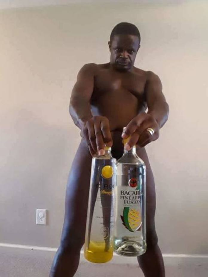 ©Facebook|Weird naked man with drinks -4