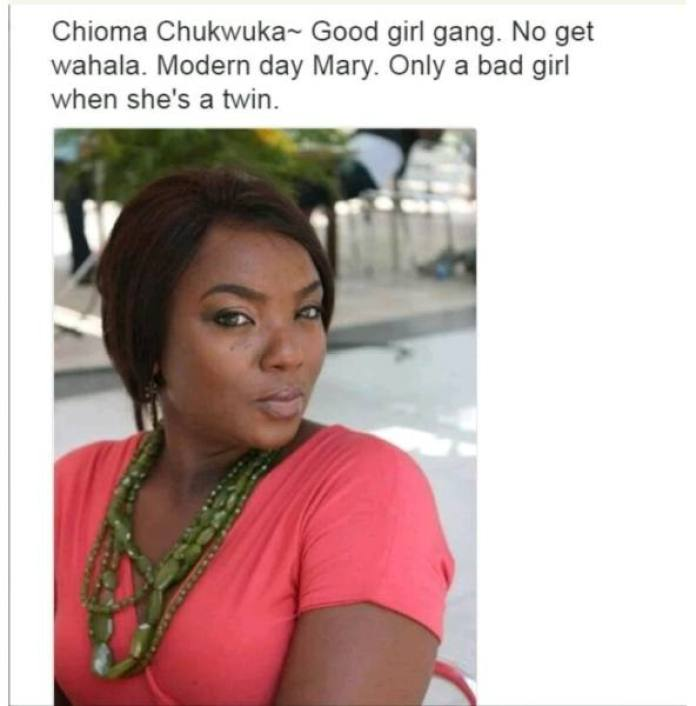 Nollywood Actors and their characteristics - Chioma Chukwuka