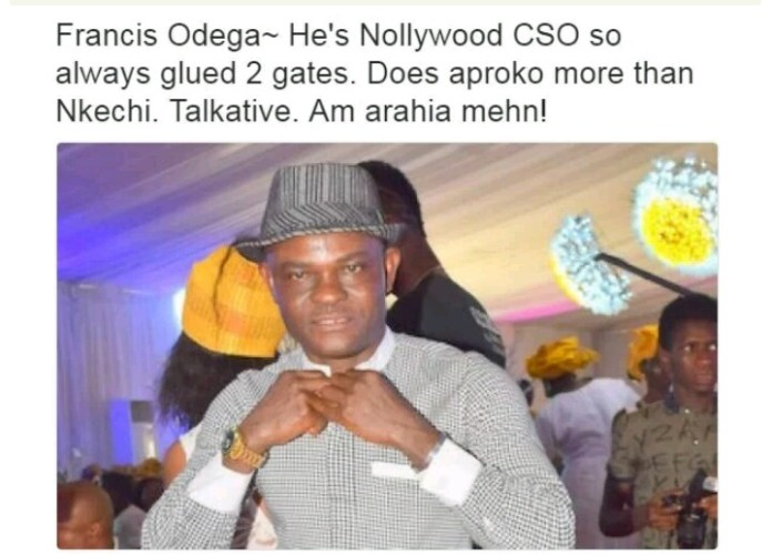Nollywood Actors and their characteristics - Frank Odega - Gerrarahia