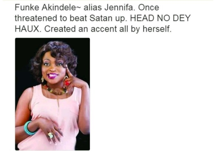 Nollywood Actors and their characteristics - Funke Akindele