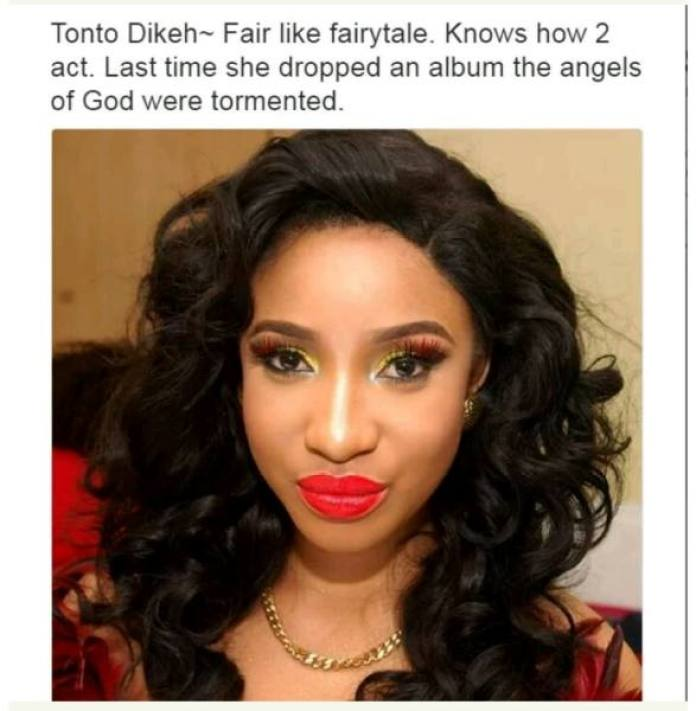 Nollywood Actors and their characteristics - Tonto Dikeh