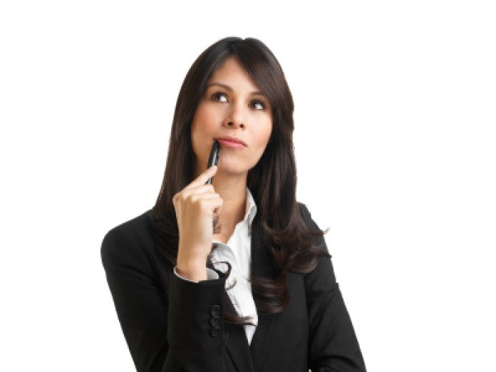 woman-thinking (How to Choose an Exceptional Business Name)