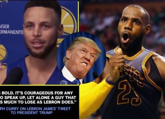 Stephen Curry, Lebron James, Trump NFL