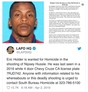 Nipsey Hussle Killings suspect identified