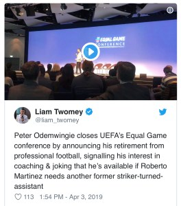 Peter Odemwingie retires from football