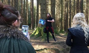 Tourists at the Game of Thrones location Northern Ireland