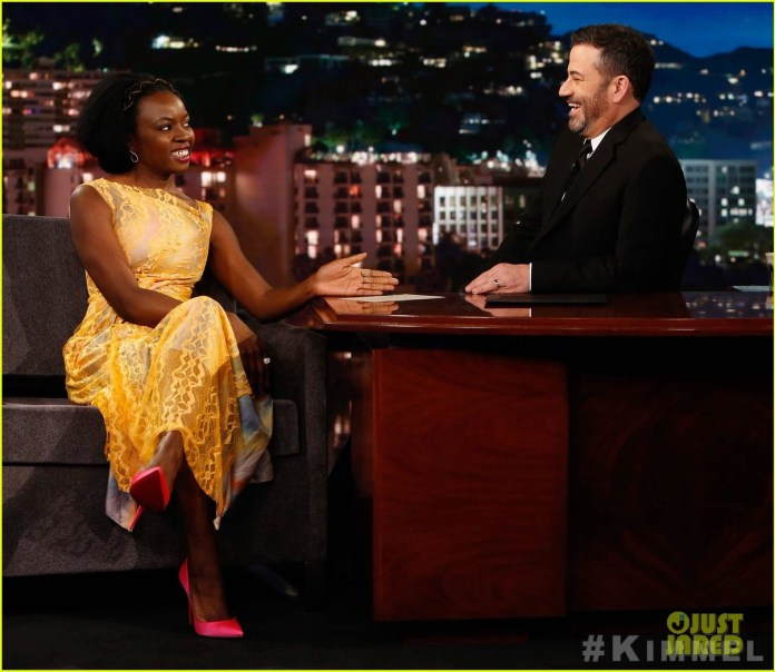 Danai Gurira on Jimmy Kimmel live