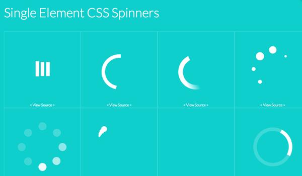 SingleElementCSSSpinners