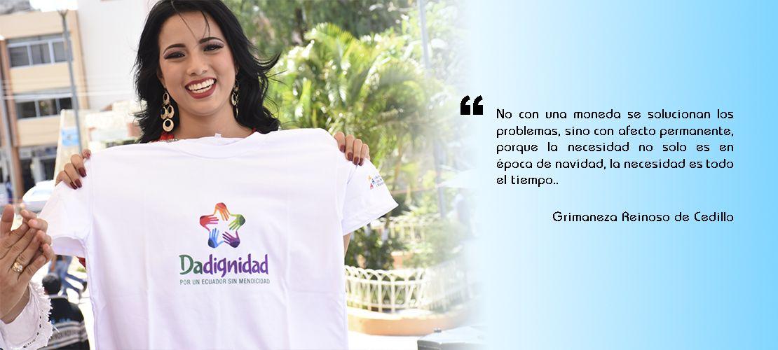 Campaña Da Dignidad en Catamayo, recolecta donaciones