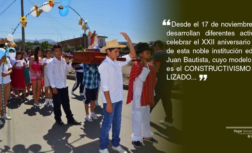 Unidad Educativa San Juan Bautista, cumple 22 años formación a niños y jóvenes Catamayo