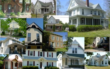 """These are the houses that didn't make the cut, though they were all pretty great in some way. The """"one that got away"""" is the white one, in the top right corner."""