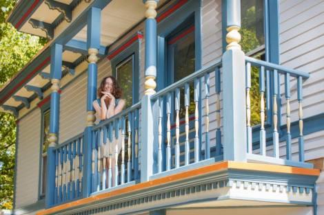 Amy On Balcony